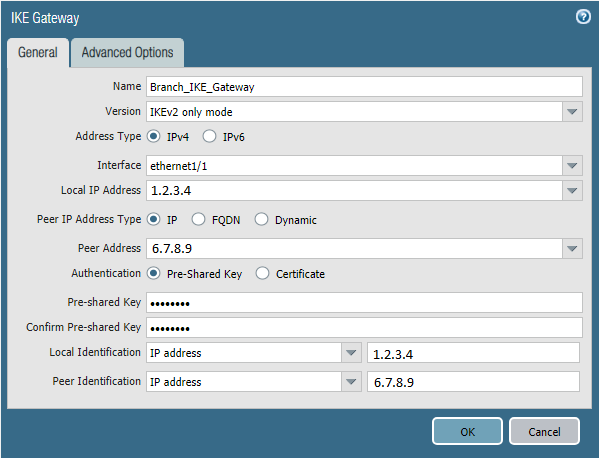 How to Build an IPSec Tunnel Between a Palo Alto Networks